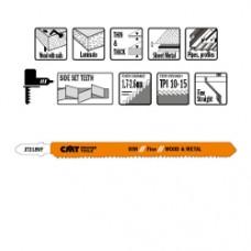 DECOUPEERZAAGBLADEN 5 STUKS HCS 132mm x 1.7 - 2.6 x 10-15TPI